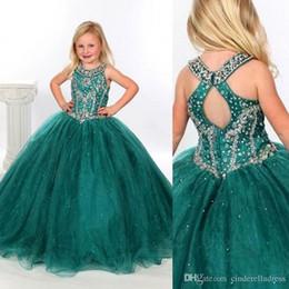 2016 nouvelles robes de filles de noël Robes Pageant Customed BO1514 de 2013 New Simple Lumière Ice Blue A- ligne fines bretelles Tulle perlé étage longueur Fille peu coûteux nouvelles robes de filles de noël