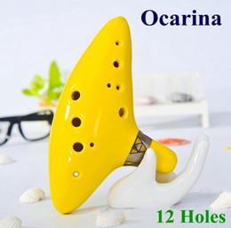 Wholesale Top Quality Holes Ocarina Musical Instruments Legend of Zelda Ceramic Material colors in stock VS guitar kit