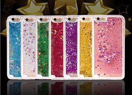 Hot Dynamic Liquid Glitter Sand Quicksand Star Case Cover For iphone5 6 4.7'' 6 Plus 5.5'' Crystal Clear Skin Phone Shell 100pcs