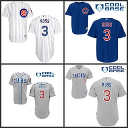 Wholesale 2015 NEW Arrival Authentic Mens Chicago Cubs Jerseys David Ross Baseball Jersey stitched Embroidery logos Size S XL