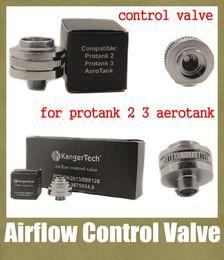 Wholesale air valve flow control valve aerotank kanger airflow control valve bottom base campatible with protank protank3 atomizer ecigator FJ050