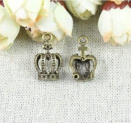 RY20*12MM Vintage brass crown charm handmade DIY jewelry accessories wholesale charms shop bronze charm