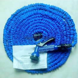 Wholesale Expandable Flexible hose Blue Water Garden Pipe Magic hose with spray nozzle FT FT FT FT