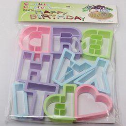 Wholesale Style HAPPY And LOVE Letter Font Alphabet Cookie Cutter Number Cookie Cutter Set Cake Tool Decorating Fondant Mold