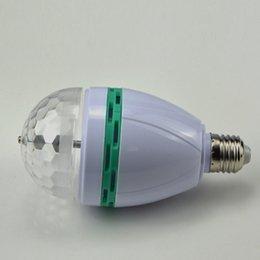 50pcs cheap rgb full color 6w e27 led bulb crystal auto rotating stage effect dj light bulb mini laser stage light cheap lighting effects
