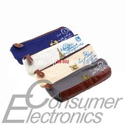 1pc NEW Retro Canvas Pencil Pen Case Cosmetic Coin Wallet St