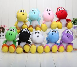 Wholesale retail super Mario Bros New quot inch yoshi Plush Doll Children s Gift Sets Figure Toy color yoshi green black red yellow blue