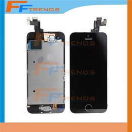 For Apple iPhone 5S LCD Screen Display Full Complete Assembly with Touch Digitizer with Home Button Front Camera Speaker