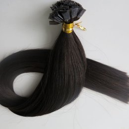 Flat tip hair pre bonded keratin human hair extensions 100g 100Strands 18 20 22 24inch #1B Off Black Brazilian Indian Hair products