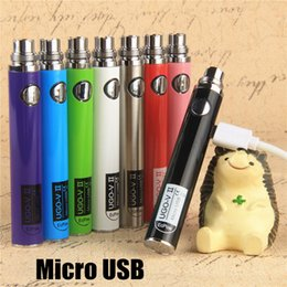 USA Hot Samsung USB Passthrough UGO-V 2 eVod Vaporizer 510 Thread E Cigarettes Charge Android Cable EVOD Batteries 650 900mAh Fit 1453 MT3