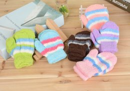 Wholesale new baby mittens cotton winter gloves mittens children winter outdoor warm kids knitted gloves winter gloves for kids D1945