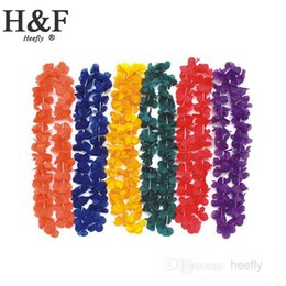 Wholesale Silk Artificial Flowers Party supplies hawaiian flower lei garland hawaii wreath cheerleading products hawaii necklace Manufacturer HH0006