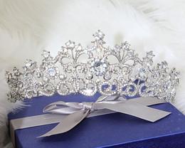 Shining Beaded Crystals Wedding Crowns Bridal Crystal Veil Tiara Crown Headband Hair Accessories Party Wedding Tiara