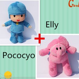 2pcs Pocoyo plush toy Elly Soft Plush Stuffed Figure Toy Doll best gift to child Free shipping