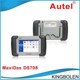 Wholesale Autel Scanner MaxiDAS DS708 Multi language Auto Engine Diagnose Scanner DS Automotive All Electronic System Scanner Online Update