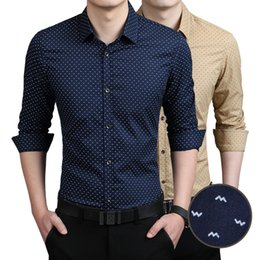 New Fashion Men shirt men's clothing Print Slim Fit Luxury Casual Stylish Dress Shirts 5 Colours 7 Sizes