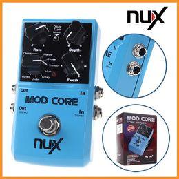 Efectos de modulación en venta-NUX MOD Core Efecto de Guitarra Pedal 8 Efectos de Modulación Preset Tone Lock Ture bypass Durable Guitar Accesorios de Piezas