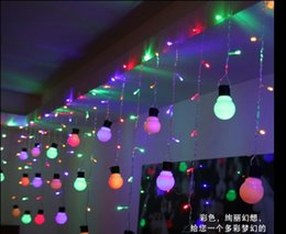 48LED 1.5M*0.5M10 bulbs curtain icicle string lights Christmas Garden Flashing LED light bulb lights of lamps