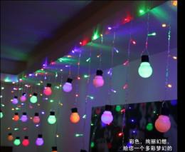 48LED 1.5M*0.5M10 bulbs curtain icicle string lights Christmas Garden Flashing LED light bulb lights of lamps