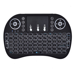 Mini Rii i8 Wireless Keyboard 2.4G Air Mouse Remote Control Touchpad Backlight Backlit for Smart Android TV Box Tablet Pc English 150pcs