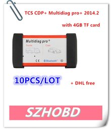 Wholesale 2015 New arrival tcs cdp V2014 New Design no Bluetooth Multidiag Pro For Cars Trucks And OBD2 With GB Memory Card