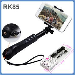 RK85E 7 in 1 Extendable Bluetooth Wireless Selfie Stick Handheld Holder Bluetooth Monopod Shutter Self Timer For iphone Samsung Gopro Camera