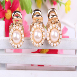 Wholesale Newest Girl s beautiful mini Hair Claw Square and Round Shapes Simulated Pearl Hair backhoes Clip Hair Claws H267
