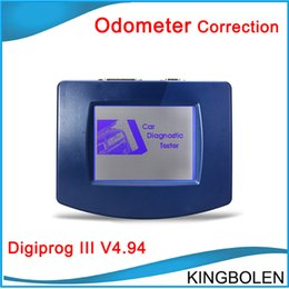 Wholesale 2015 Top rated Auto Odometer Correction Tool Digiprog III V4 with Full set cables Digiprog Odometer Change tool DHL