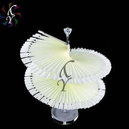 Wholesale-120PCS False Nail Art Tip Polish Nailart Display Fan nailart Practice Stand Spiral Display Shelf Tools Etagere Vernis A Ongles