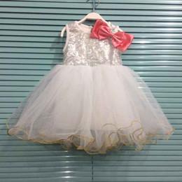 Children's Christmas Dresses Korean Girl Bling Bling Sequin Chiffon Dress Kids Tutu Dress Brand Girl Lace Princess Party Dress