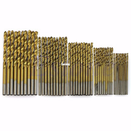 Wholesale 50 Titanium Coated HSS High Speed Steel Drill Bit Set Tool mm