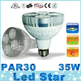 Wholesale Ultra Bright W LEDs Lumens E27 Led par30 Spot Bulbs Lights With Cooling Fan Degree AC V CE UL CSA