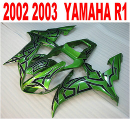 Injection molding new aftermarket for YAMAHA fairings YZF-R1 2002 2003 green black plastic fairing kit YZF R1 02 03 HS41