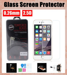 for iphone6 tempered glass film screen protector with retail package 0.26mm iwatch film for samsung s5 mini s4 s3 s6 edge SSC022