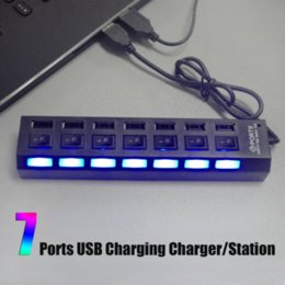 Wholesale Portable New Universal Black USB Multi Port Socket Ports USB Hub Charging Charger Station