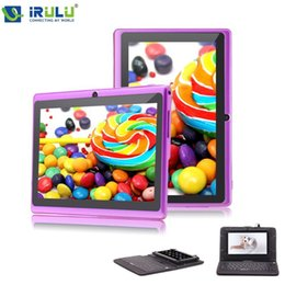 Wholesale iRULU eXpro quot Tablet PC HD Android Quad Core WIFI GB Download Google APP Play Purple W Black Keyboard New Hot