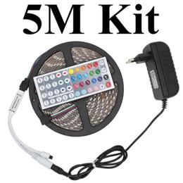 Edison2011 SMD 5050 LED Strip RGB DC12V 30Leds m 5M Lot 10M Lot Flexible LED Light 10mm Width 5050 LED Strip