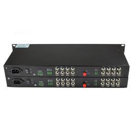 2017 convertisseurs vidéo Vente en gros-16 Canal numérique vidéo/de données à fibre optique de convertisseur de médias de 16v1d promotion convertisseurs vidéo