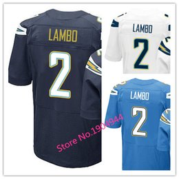 Wholesale Factory Outlet Men s Josh Lambo Jersey Elite Navy Blue White Baby Blue Stitched Name And Number