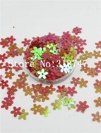 Escama de lentejuelas en venta-1cm 10g flor roja en escamas de lentejuelas para decortation casa / costura / decoración de la boda del confeti 043006010