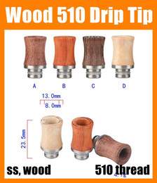 Ecig Drip Tips 510 Wood Drip Tips For RDA Wide Bore Style E Cigarette Mouthpiece Drip Tips RDA Drip Tips High Quality FJ147