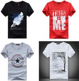 Wholesale Men T Shirts Print fashion men women short sleeves cotton cartoon T shirt tees clothing apparel colorful many designs gifts
