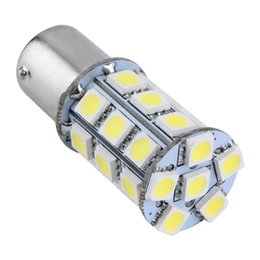 Wholesale New White T25 S25 BAY D White SMD LED Car Auto Tail Brake Stop Signal Parking Lights Bulb V