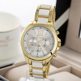 Wholesale Mens Quartz Full Steel Watch Women Luxury Mechanical Automatic Watches Style Casual Dress Ladies Wrist Watch Golden Dial Alloy Watch