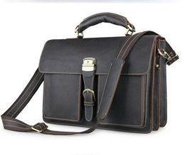 Wholesale-Fashion genuine leather brand men business crossbody bag men messenger bags laptop bags shoulder bag business briefcase for men