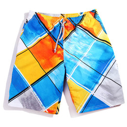 Wholesale 2015 New brand Arrival Summer Men s Shorts Sport Swimwear Shorts Pants Board Sports Half Loose surf Striped beach Shorts moleton masculino