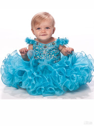 Infant Flower Girl Dress V-neck Straps Sequin Layered Rhinestone Organza Girl 's Pageant Dresses 2019 Christmas Party Gowns