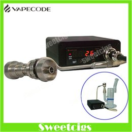 Wholesale Electric dab nail the dab VAPECODE nail heater box temperature control box with Gr2 titanium nail for glass bong herbal wax