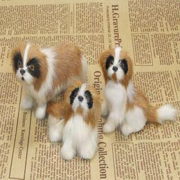 Wholesale Wang Yi factory direct simulation animal fur simulation crafts sets of three St Bernard dog model