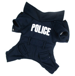 Wholesale Cute Dark Blue Police Letter Style Pet Dogs Coat Pet coat dogs coat pet cloth dog cloth dog product